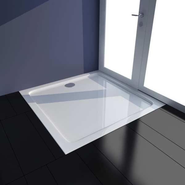 vidaXL Cădiță de duș, alb, 80 x 80 cm, ABS