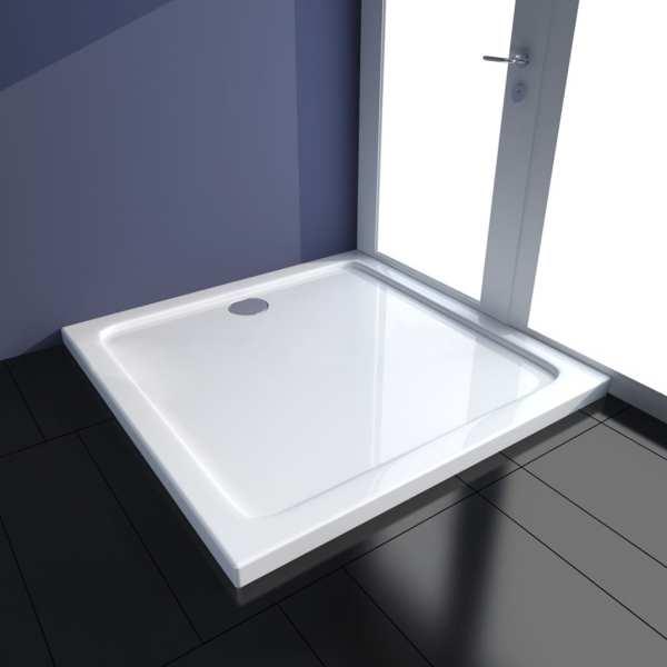 vidaXL Cădiță de duș, alb, 90 x 90 cm, ABS