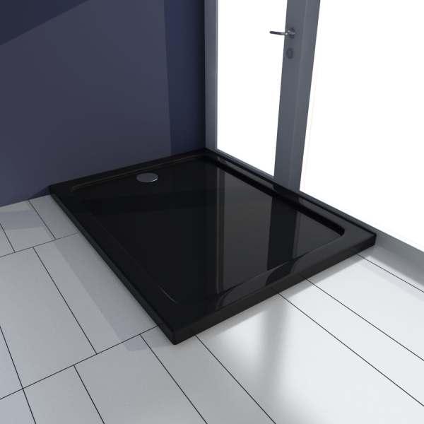 vidaXL Cădiță de duș, negru, 70 x 100 cm, ABS