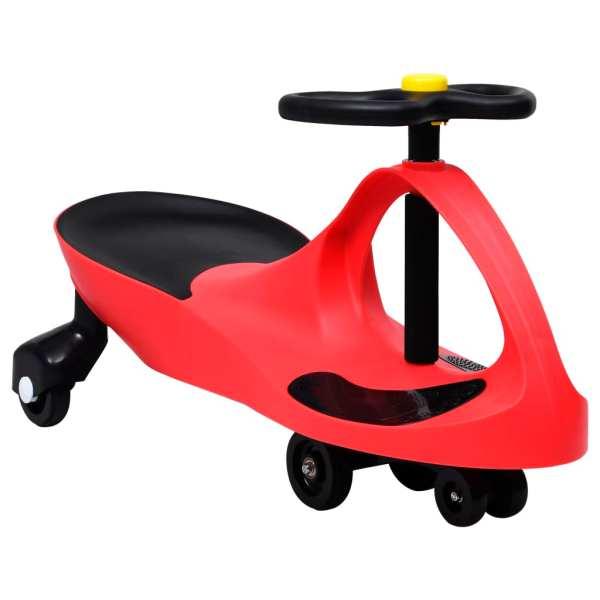 vidaXL Mașinuță de jucărie fără pedale cu claxon, roșu