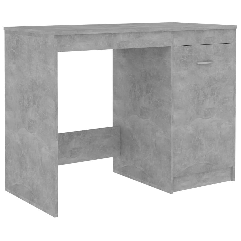 vidaXL Birou, gri beton, 140 x 50 x 76 cm, PAL