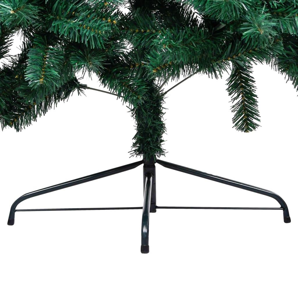 vidaXL Jumătate pom Crăciun artificial cu suport, verde, 180 cm, PVC