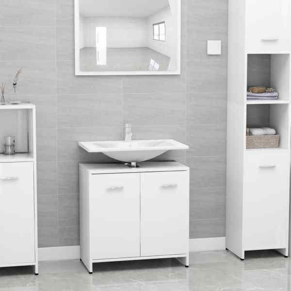 vidaXL Dulap de baie, alb, 60 x 33 x 58 cm, PAL
