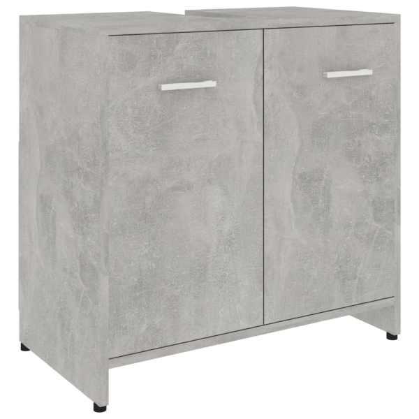 Dulap de baie, gri beton, 60 x 33 x 58 cm, PAL