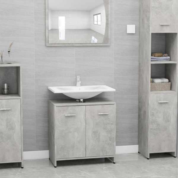 vidaXL Dulap de baie, gri beton, 60 x 33 x 58 cm, PAL