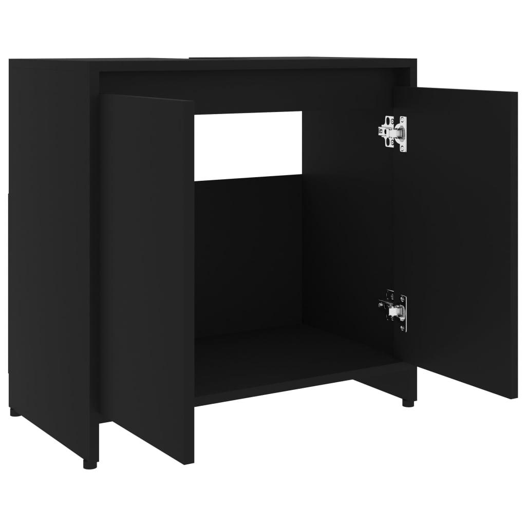 Dulap de baie, negru, 60 x 33 x 58 cm, PAL