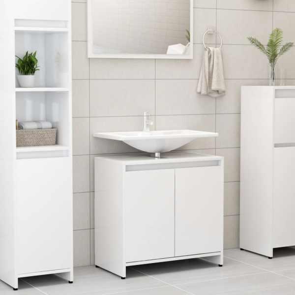 vidaXL Dulap de baie, alb extralucios, 60 x 33 x 58 cm, PAL