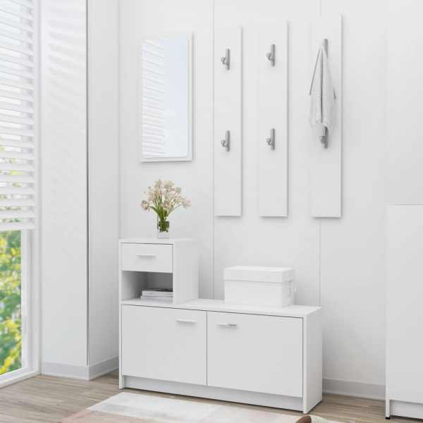 vidaXL Mobilă pentru hol, alb, 100 x 25 x 76,5 cm, PAL