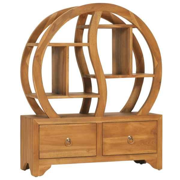 vidaXL Dulap cu raft Yin Yang, 68 x 26 x 83 cm, lemn masiv de tec
