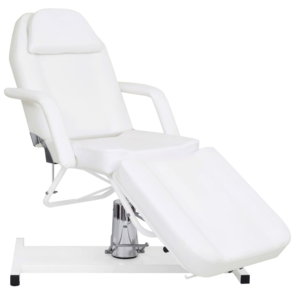 vidaXL Masă de masaj, alb, 180 x 62 x (87-112) cm