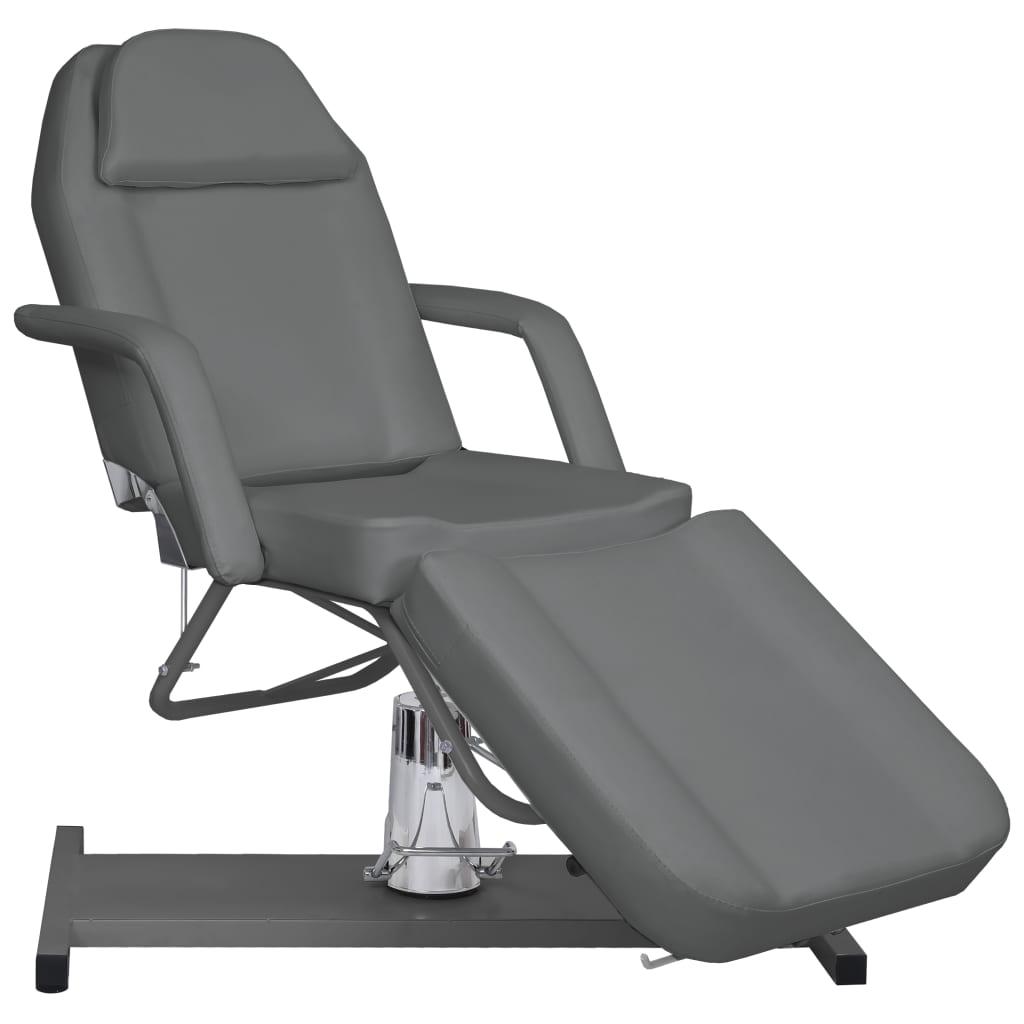 vidaXL Masă de masaj, gri, 180 x 62 x (87-112) cm