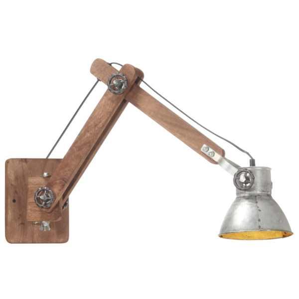 vidaXL Lampă de perete, stil industrial, argintiu, rotund, E27
