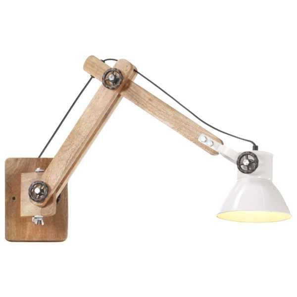 vidaXL Lampă de perete, stil industrial, alb, rotund, E27
