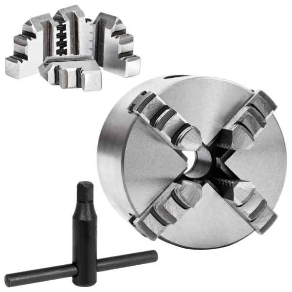vidaXL Mandrină de strung cu 4 fălci, 80 mm, oțel