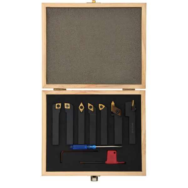 Set unelte de strunjire indexabile, 12 piese, 12 x 12 mm, 80 mm