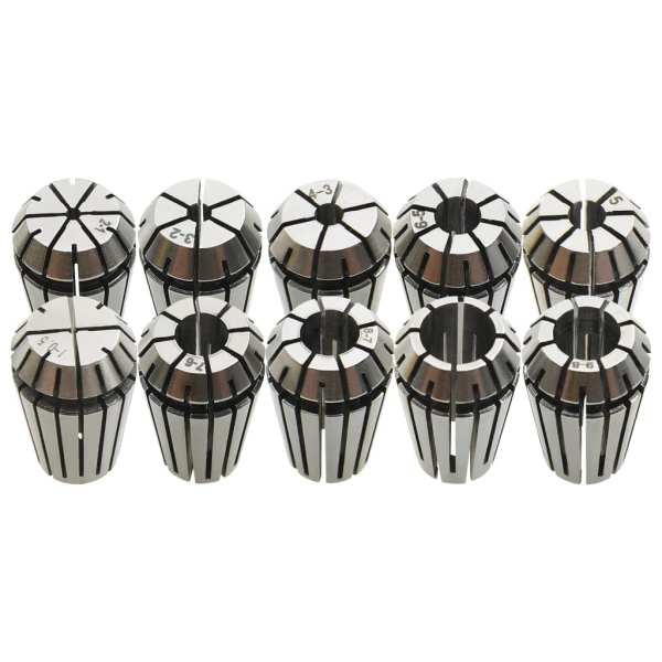 vidaXL Coliere ER16, 10 buc., set de instrumente de strunjire