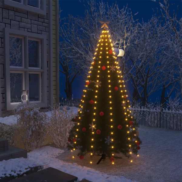 vidaXL Instalație pom de Crăciun tip plasă cu 250 LED-uri IP44 250 cm
