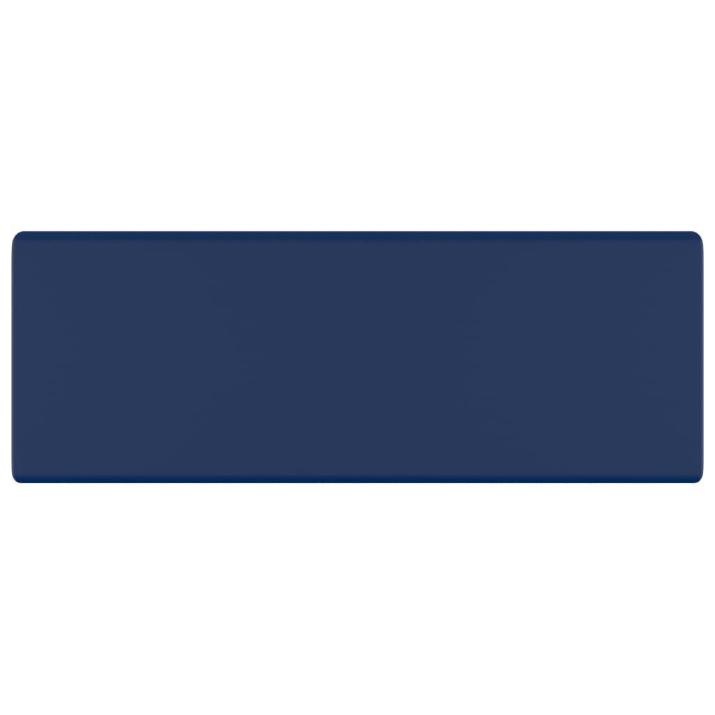 Chiuvetă lux preaplin albastru mat 41x41cm ceramică pătrat