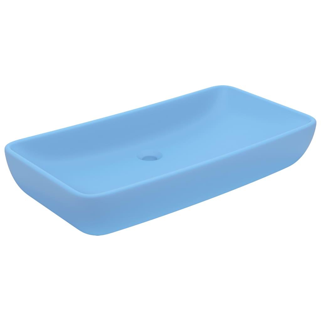 Chiuvetă dreptunghiulară lux, bleu mat, 71 x 38 cm, ceramică