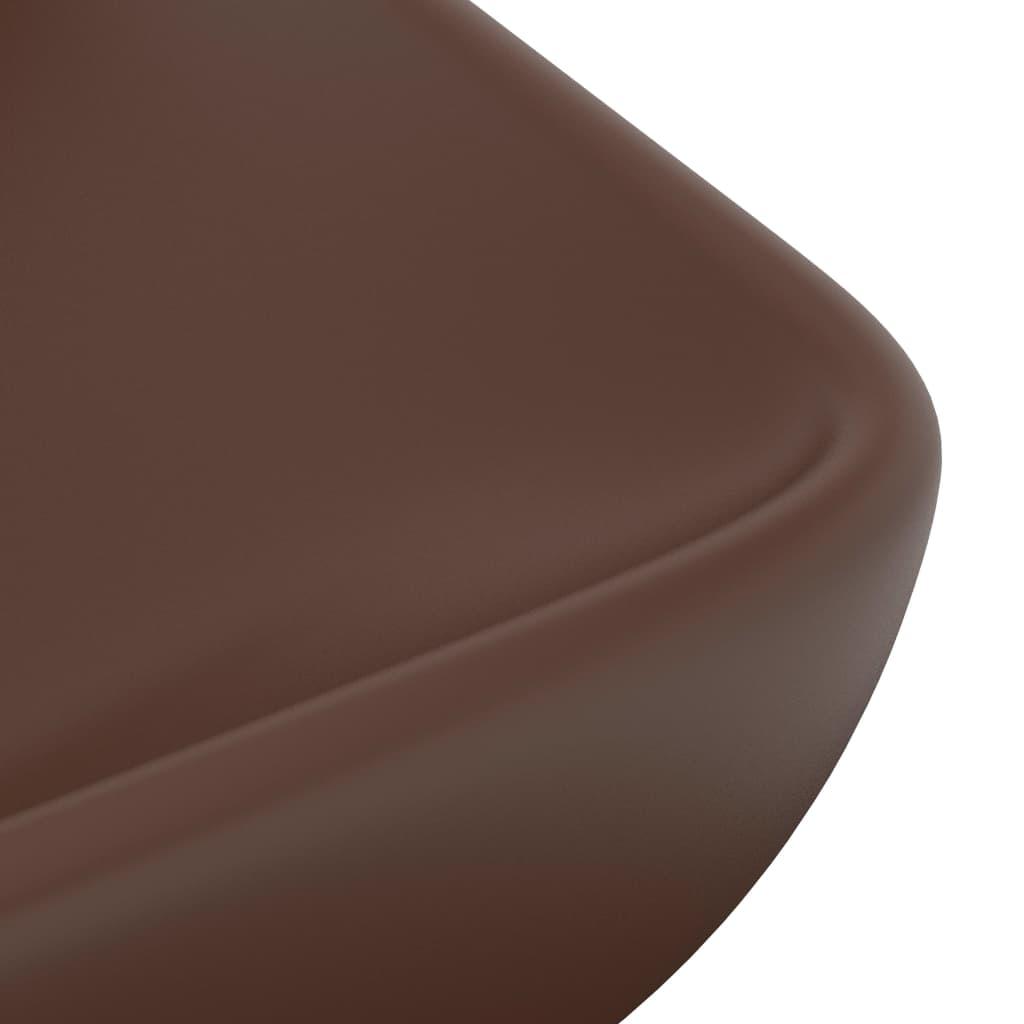 Chiuvetă dreptunghiulară lux, maro închis, 71×38 cm, ceramică