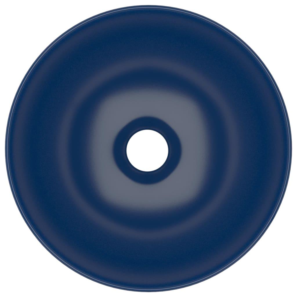 Chiuvetă de baie, albastru închis, ceramică, rotund
