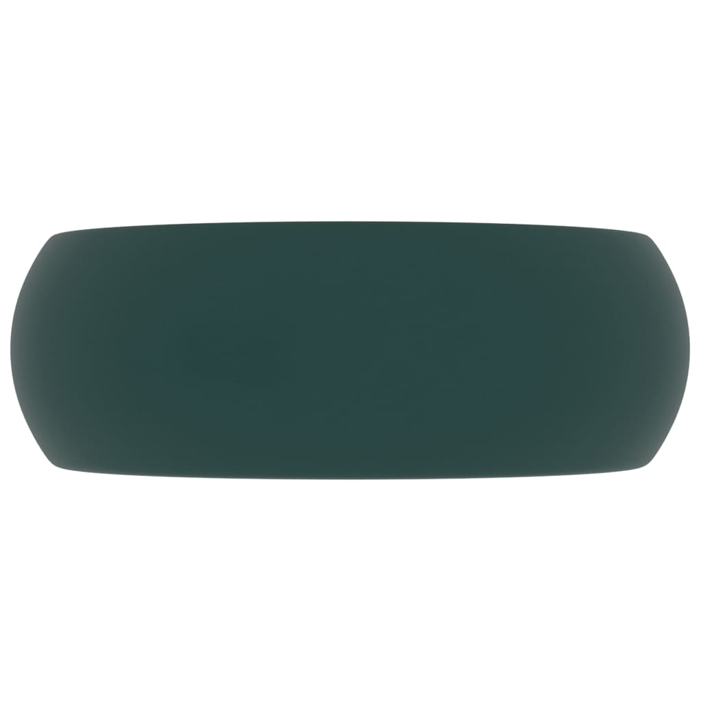 Chiuvetă baie lux verde închis mat 40×15 cm ceramică rotund