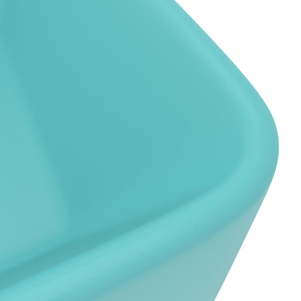 Chiuvetă de baie lux, verde deschis mat, 41x30x12 cm, ceramică