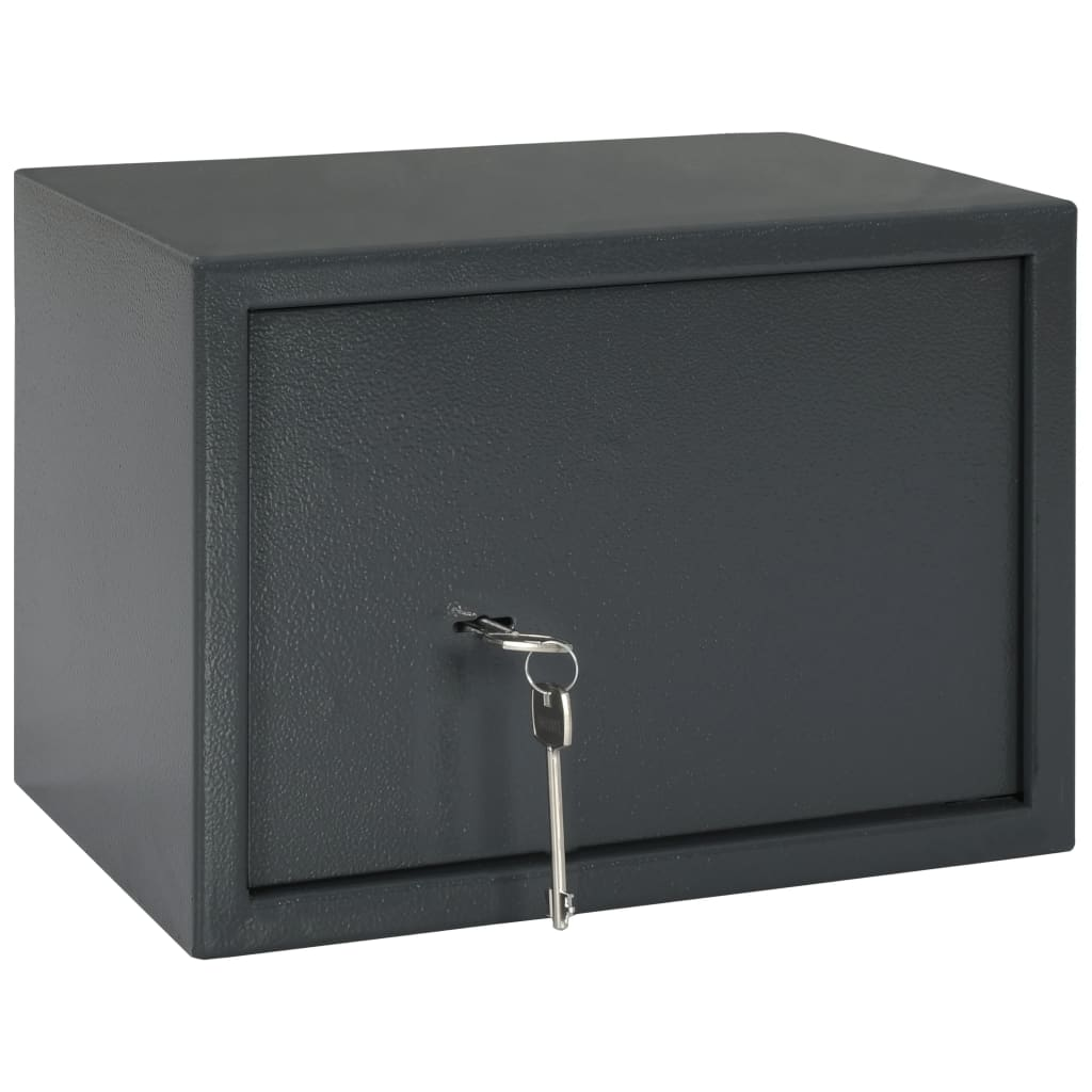 vidaXL Seif mecanic, gri închis, 35 x 25 x 25 cm, oțel