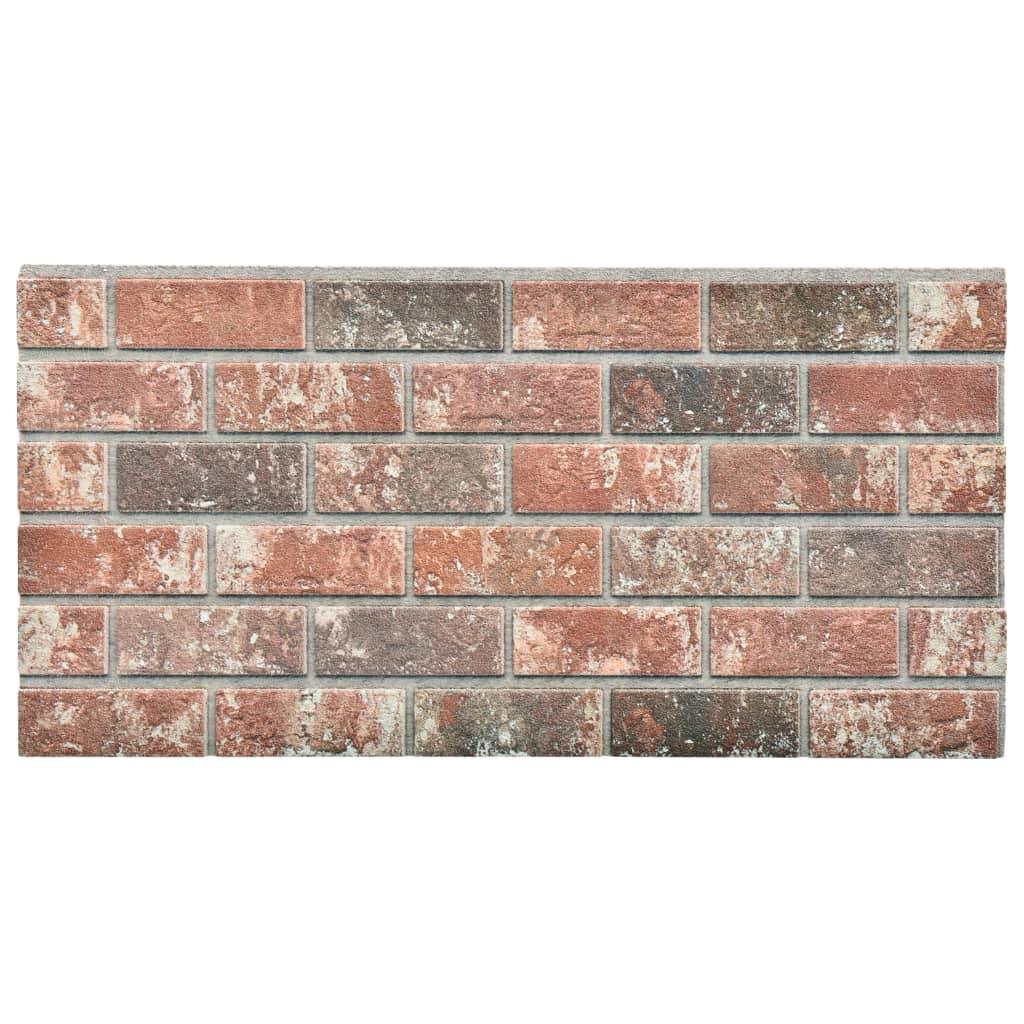 Panouri de perete 3D model cărămidă maro închis/gri 11 buc. EPS