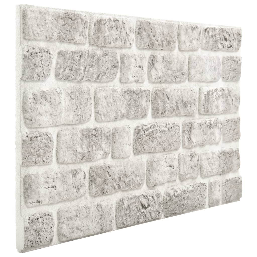Panouri de perete 3D model cărămidă, gri deschis, 11 buc., EPS