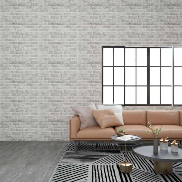 vidaXL Panouri de perete 3D model cărămidă, gri deschis, 11 buc., EPS