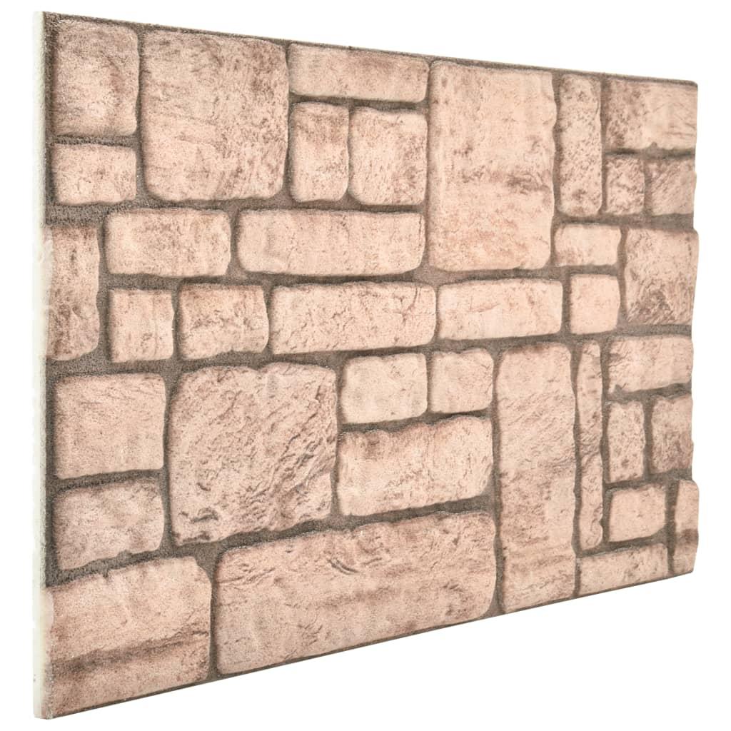 Panouri de perete 3D, model cărămidă, bej, 11 buc., EPS