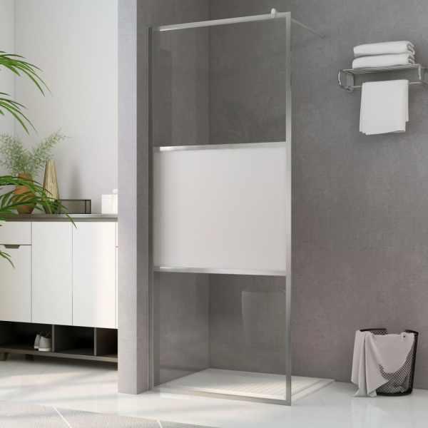 vidaXL Paravan de duș walk-in, 100 x 195 cm, sticlă ESG semi-mată