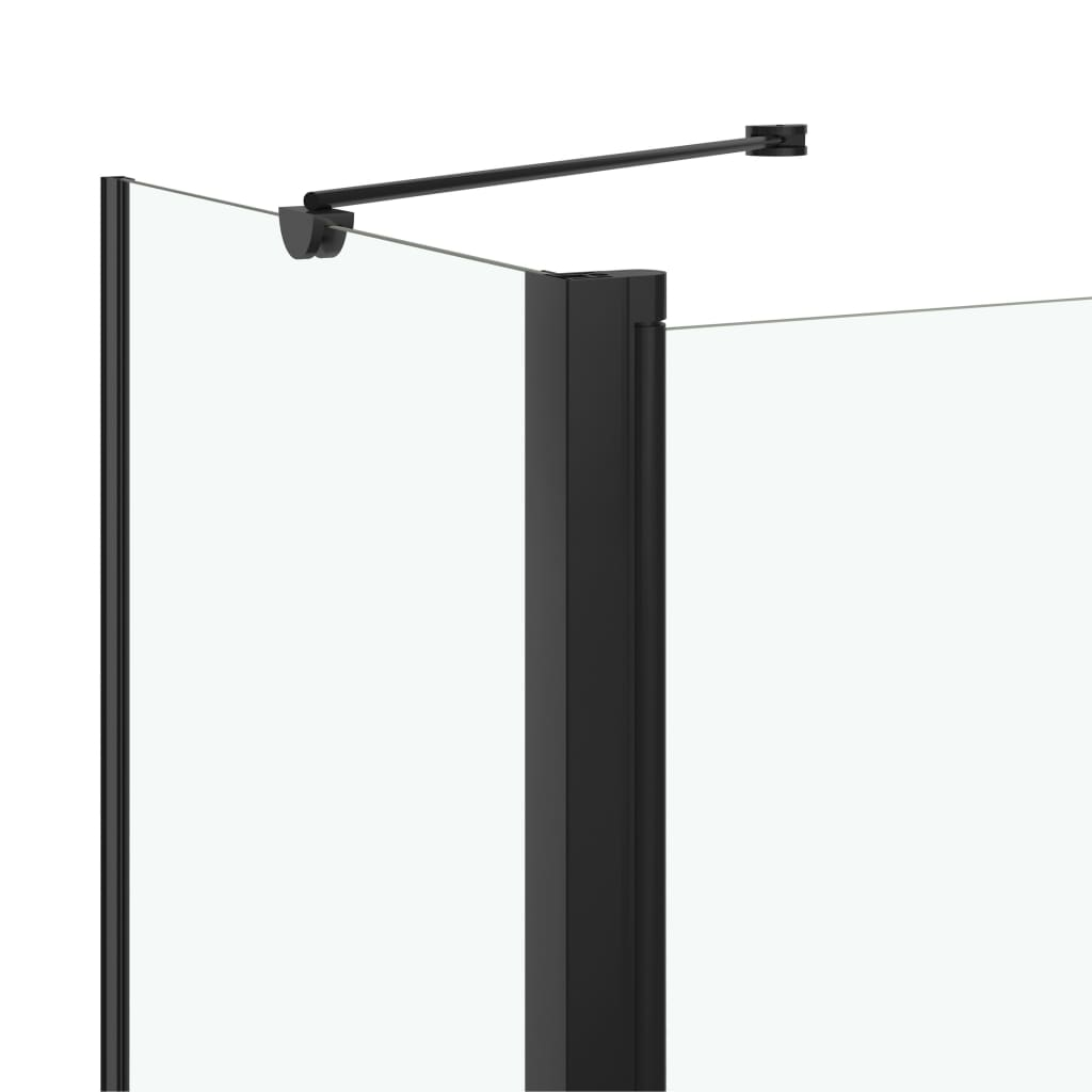 vidaXL Cabină de duș dublu-pliabilă, 120 x 68 x 130 cm, negru