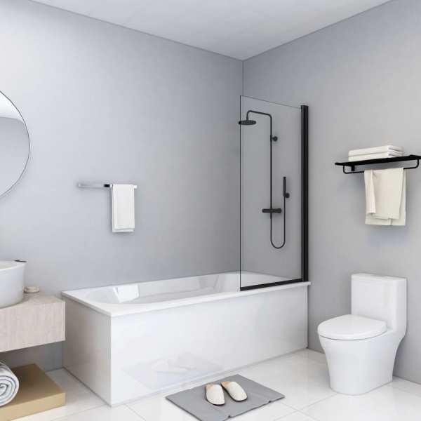 vidaXL Cabină de duș, negru, 68 x 130 cm, ESG