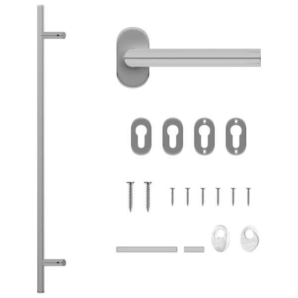 vidaXL Set de mâner și bară pentru ușă PZ 1000 mm oțel inoxidabil