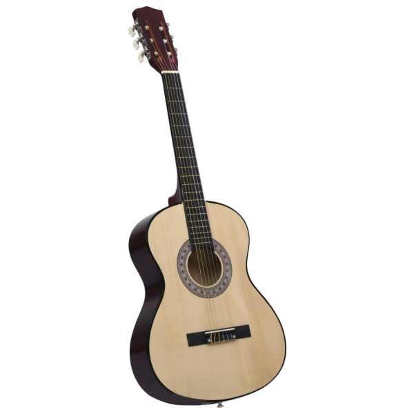 Chitară clasică pentru începători, cu husă, 4/4 39″