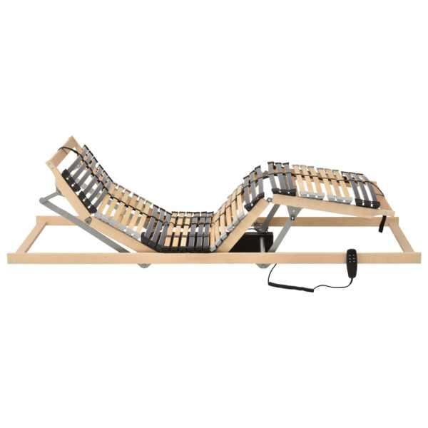 Bază de pat electrică cu șipci, 28 șipci, 7 zone, 70 x 200 cm
