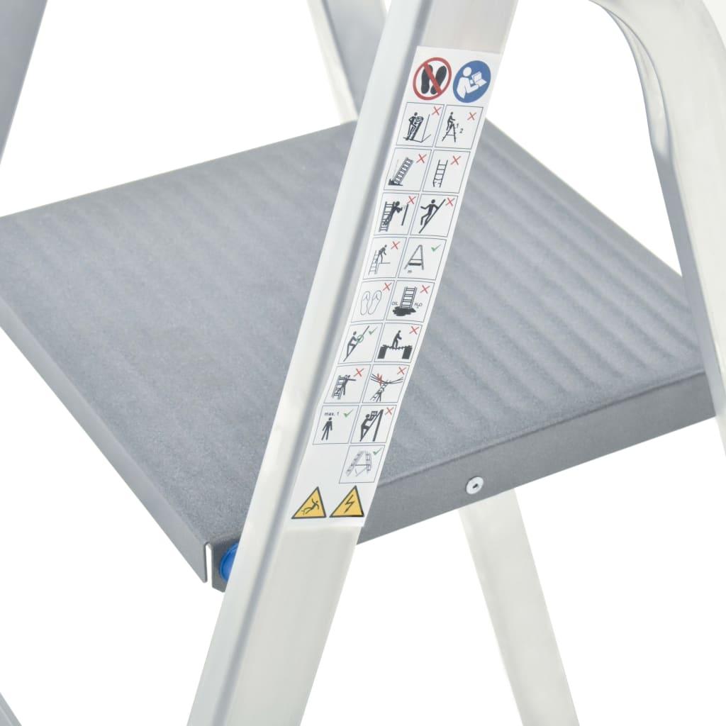 vidaXL Scară cu 4 trepte, 150 kg, aluminiu