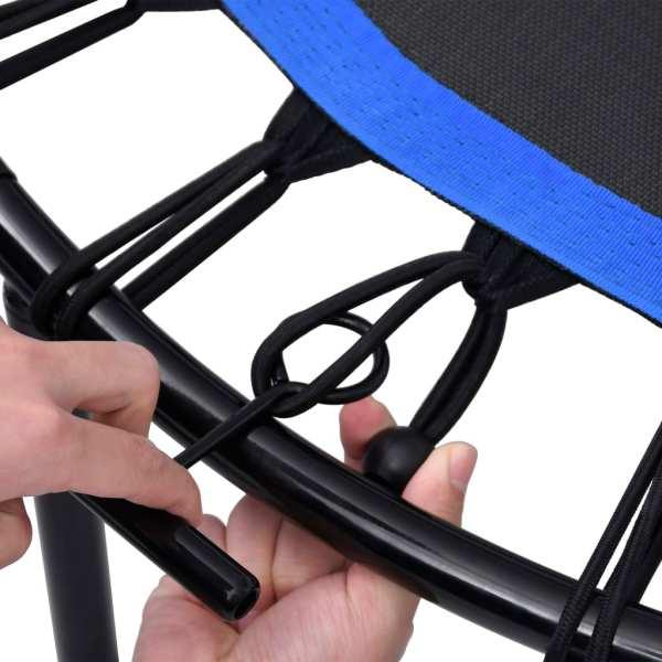 vidaXL Trambulină de fitness cu mâner și margine de siguranță, 102 cm