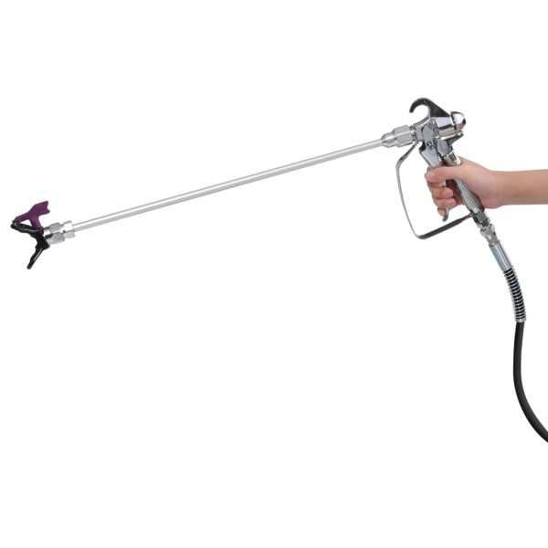 vidaXL Pistol de vopsit, înaltă presiune, fără aer, 1010 W