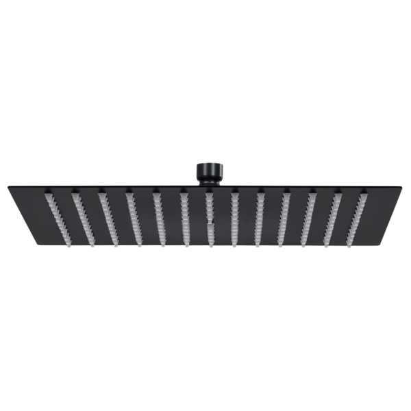 vidaXL Cap de duș tip ploaie pătrat, negru, 40×40 cm, oțel inoxidabil