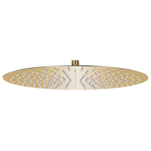 vidaXL Cap de duș tip ploaie rotund, auriu, 40 cm, oțel inoxidabil