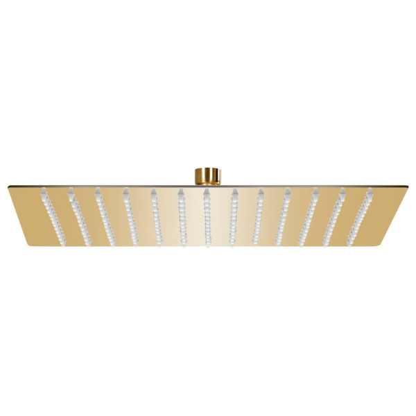 vidaXL Cap de duș tip ploaie pătrat, auriu, 30×30 cm, oțel inoxidabil
