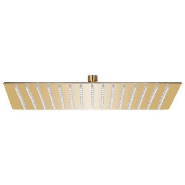 vidaXL Cap de duș tip ploaie pătrat, auriu 40 x 40 cm oțel inoxidabil