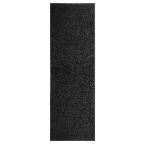 vidaXL Covoraș de ușă lavabil negru 60×180 cm