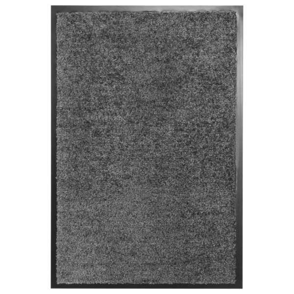 vidaXL Covoraș de ușă lavabil, antracit, 40 x 60 cm