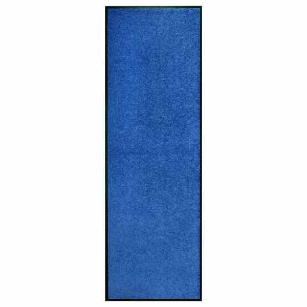 vidaXL Covoraș de ușă lavabil, albastru, 60 x 180 cm