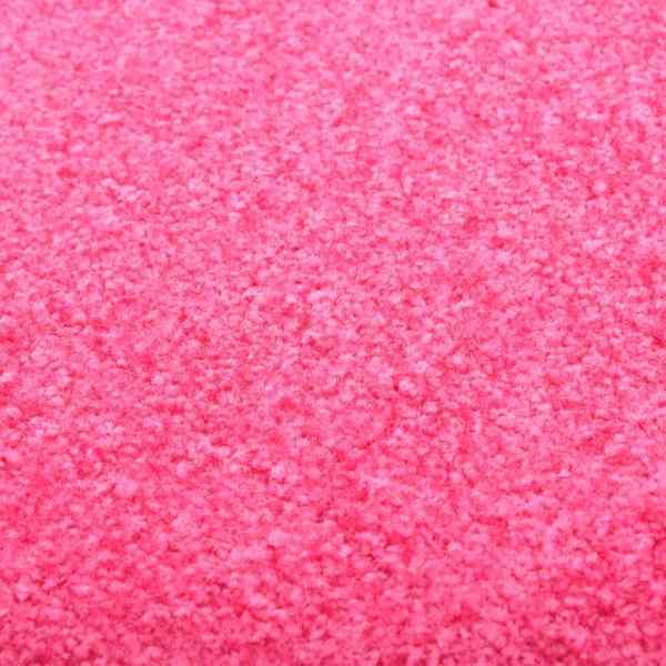 vidaXL Covoraș de ușă lavabil roz 90×120 cm