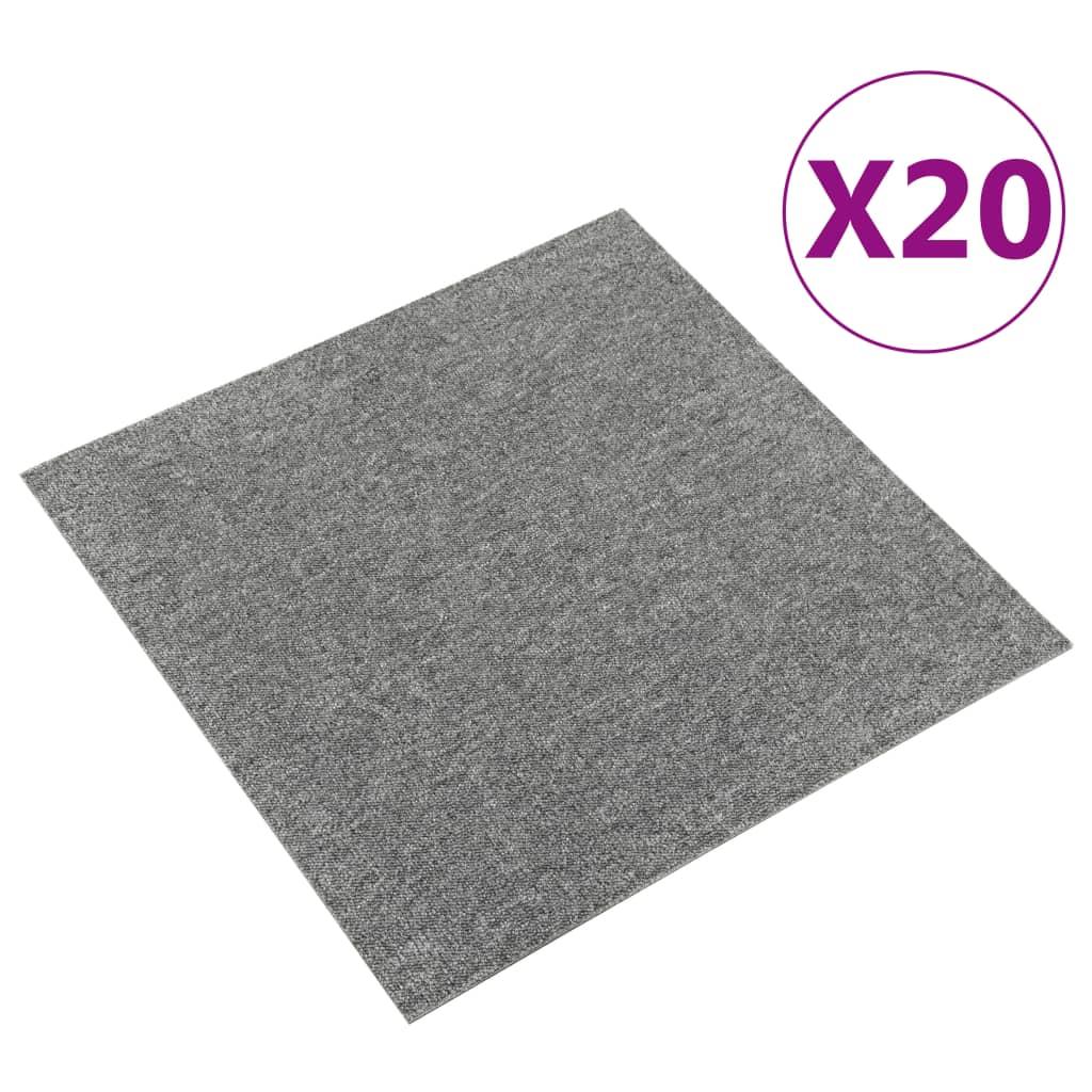 vidaXL Plăci de pardoseală, 20 buc., gri, 50 x 50 cm, 5 m²
